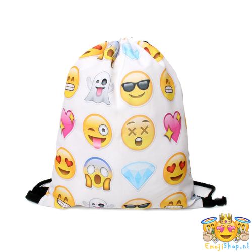 White Random Emoji Gymtas - EmojiShop nl