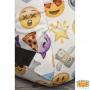 Witte-Princess-Emoji-Rugtas-aanhechting-schouderband-onder