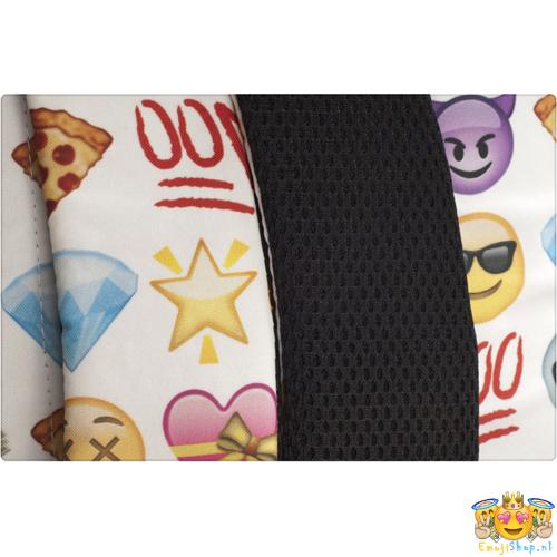 Witte-Princess-Emoji-Rugtas-achterkant-schouderband