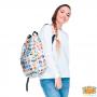 Witte-Princess-Emoji-Rugtas-model-zijkant