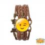 wink-emoji-bracelet-bruin-leer