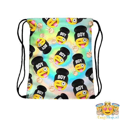 Crazy-Boy-Emoji-Touwtjestas-voorkant-wijd