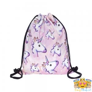 unicorn-emoij-touwtjestas-voorkant