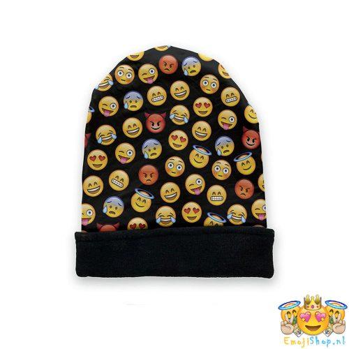 black-emoji-beanie