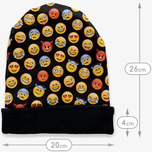 black-emoji-beanie-afmetingen