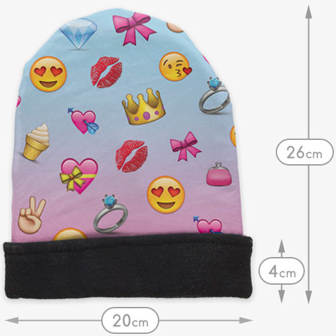girly-emoji-beanie-afmetingen