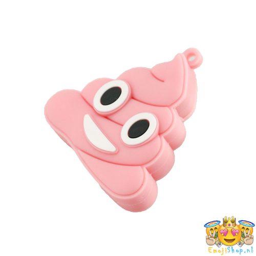 pink-poop-emoji-usb-stick-16-gb-liggend-schuin-links