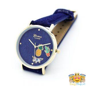 geneva-platinum-denim-look-dark-emoji-horloge-nieuw
