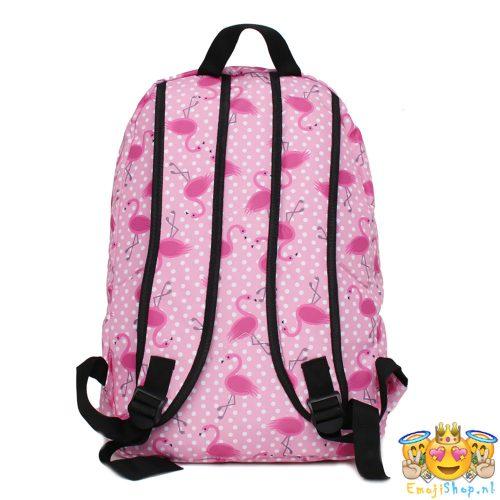 polkadots-flamingo-rugtas-emoji-achterkant