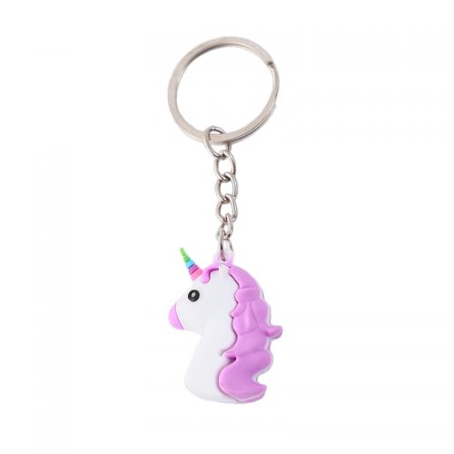 xiaojingling-6-styles-cartoon-unicorn-keychain-eco-pvc-soft-rubber-keyring-3d-stereo-colorful-unicorn-bag