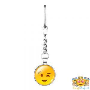 wink-emoji-sleutelhanger-metaal-geheel