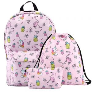 Roze-Eenhoorn-Flamingo-Schoolpakket